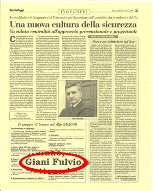 Italia Oggi: Una nuova cultura della sicurezza
