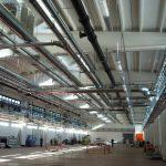 Impiantistica all'interno magazzino industriale