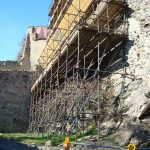Ponteggio sul Castello di Susa