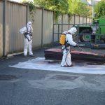 Stoccaggio di lastre in amianto cemento